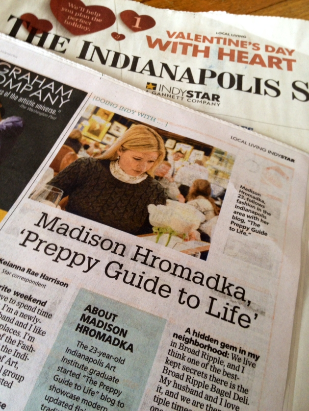 Preppy Guide to Life Indy Star article